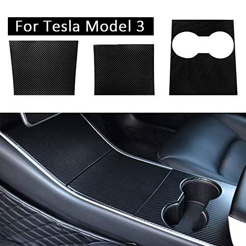 Kit de Envoltura de Consola para Model 3, Fibra de Carbono Película Pegatina