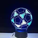 3D Ilusión Lámparas Night Light Fútbol Americano...