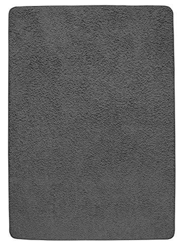 misento Hochflorteppich Shaggy Läufer Teppich Polypropylen, grau-braun, 50 x 80 cm
