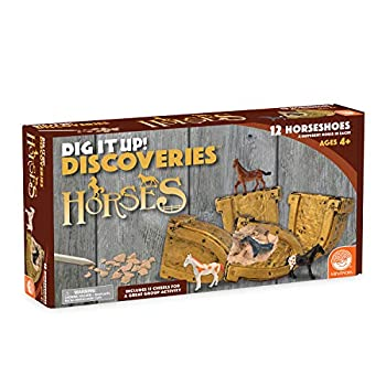 MindWare Dig It Up Discoveries  Horses – Party-Sized 12-Pack of Educational Discovery Digs for Kids with Tools & Fun Facts – Learn About Horses!