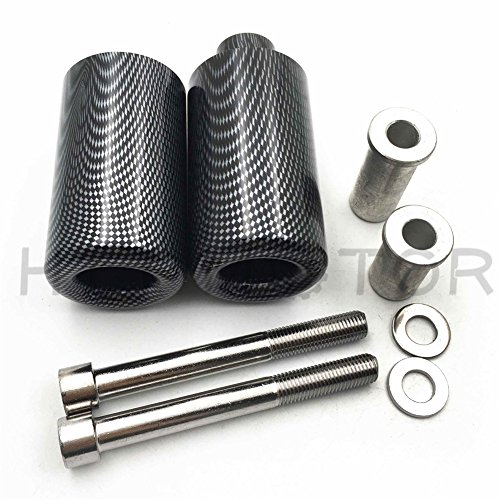 HTTMT MT219-039-CN No Cut Frame Slider Crash Protector Compatible with 2007 2008 Suzuki Gsxr 1000 Gsx-R Carbon