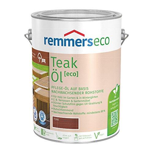 Remmers Gartenholz-Öle [eco] Holzpflege Möbelpflege (5 l, Teak-Öl)