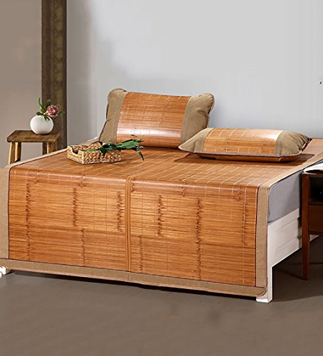WUFENG Cama-colchón Plegable Supercool Bedding Alfombras de bambú Colchón Tejido Uso de...
