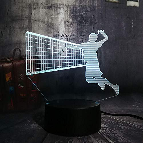 Xiaolaji 3D Iluminación Hot Lovely Led Night 7 Globo Cambiante De Color Lámpara De Mesa Batalla Decoración Para Boy Girl Valentine'S Day Christmas Gift