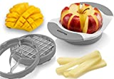 Gourmia 3 In 1 Handle Push Cutter, Mango, Apple Slicer & Corer With...