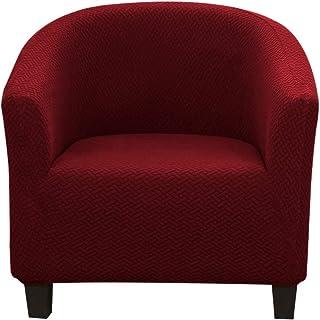 JTWEB - Funda de sillón Chesterfield elástica, funda de sillón Club de cóctel, antideslizante, funda de silla Tub universal, extraíble y lavable, con rodillo de espuma de 4 piezas
