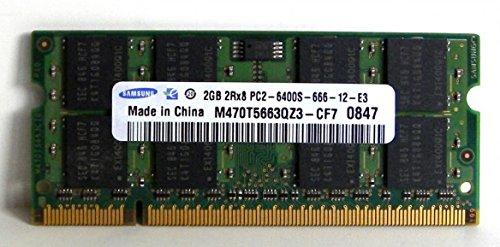 2.0GB (2048MB) Samsung Original PC2-6400 DDR2 800MHz SO-DIMM 200 Pin Memory Module