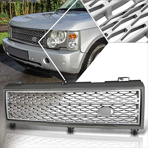 Front Bumper Honeycomb Mesh Grill Grille Compatible with 03-05 Range Rover HSE (Grey)