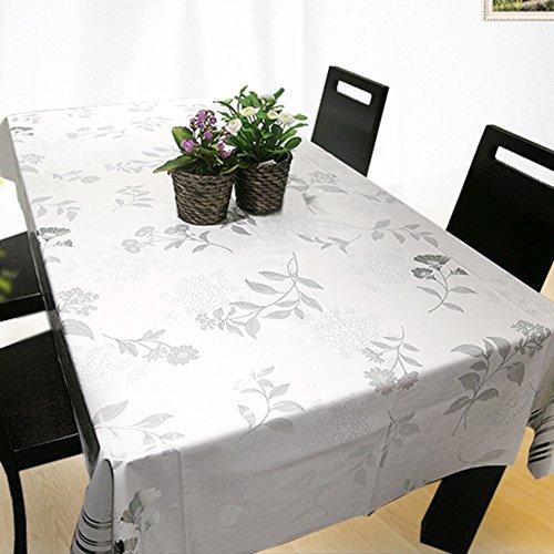 Nappe facile essuyez les clips en plastique de pvc du rectangle lavable de dîner pour des parties salle à manger garden hotel cafe restaurant anniversaire simple réseau imperméable-A 65x65cm(26x26inch)