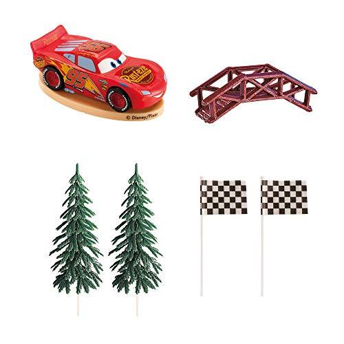 Dekora- Kit de Decoracion de Tartas con Figuras Decorativas de Disney Cars (350142)