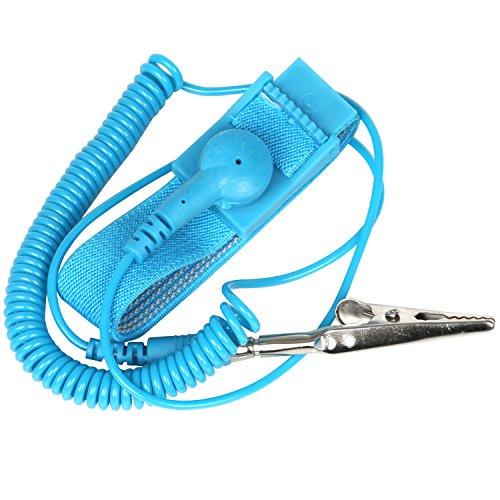 TRIXES Anti-statische Armband Armband Band ESD Entladung - mit Erdung Draht und Alligator Clips - Boden Selbst, um Aufbau von statischer Elektrizität zu verhindern