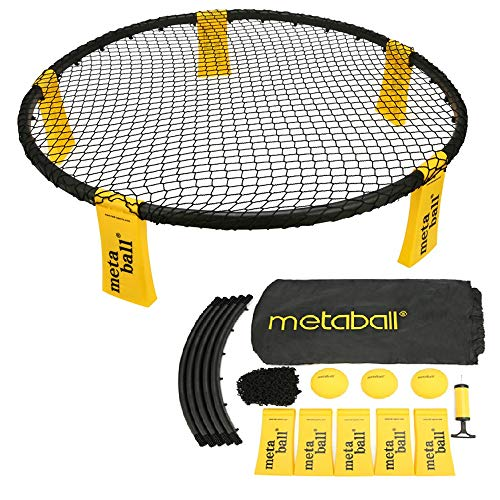 Lixada 16 en 1 Ensemble Jeu de Mini-Volleyball, Adulte/Enfant Jeu de Balle, Jeu de Plein air, équipement de Remise en Forme, Ballons de Beach-Volley, pour Plage/Pique-Nique/Camping/Parc/pelouse