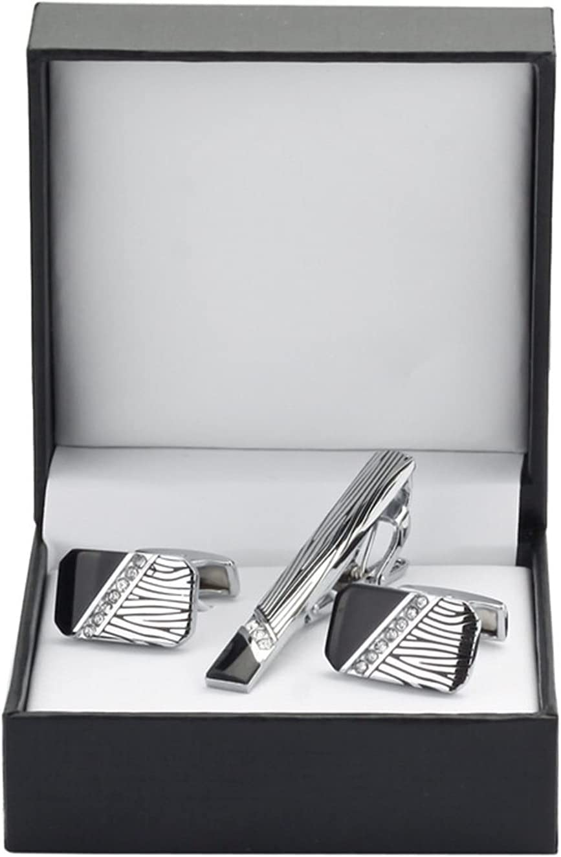 WAZG SYBLD Tie Clip Cufflink Set (Metal Color : 12)