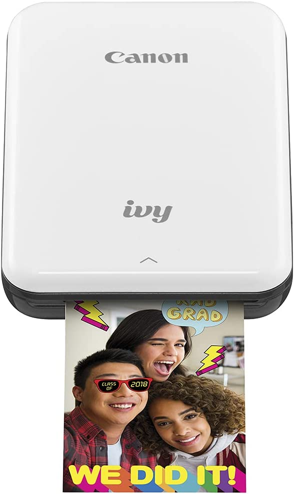 Canon IVY Mini Photo Printer for Smartphones (Slate Gray) - Sticky-back prints, Pocket-size