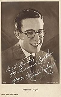 Harold Lloyd - Inscribed Picture Postcard Signed