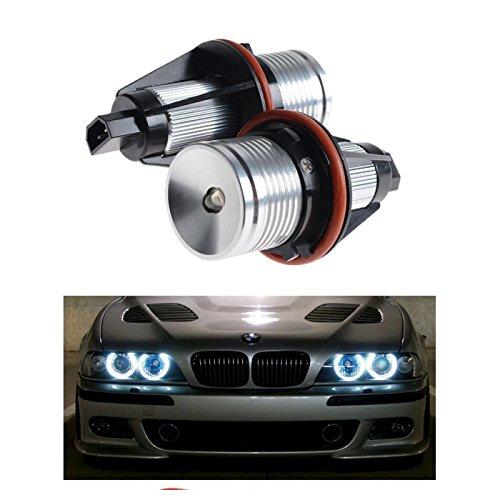 2Pezzi Bianco 7000K High Power LED Angel Eyes Anello Marker Lampadine