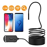 BlueFire Upgraded 1080P Semi-rigid Inspection Camera IP68 Waterproof 2 MP HD WiFi Endoscope