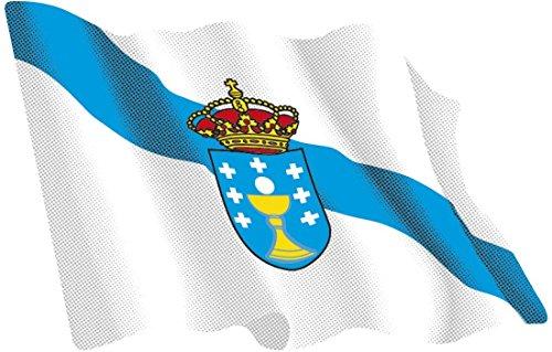 Artimagen Pegatina Bandera Ondeante Galicia 80x60 mm.