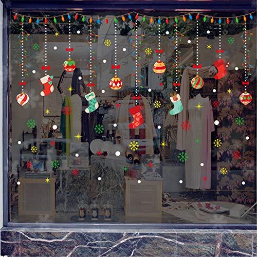 WARMWORD Ventana Vaso Pegatina Tienda De Ropa Etiqueta La Pared Navidad Decoracion...
