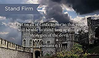 Pass Along Pocket Scripture Cards, Stand Firm, Ephesians 6:11, Pack of 25