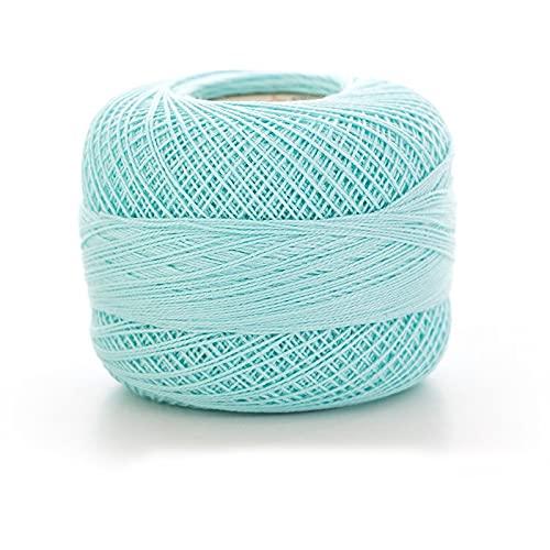 WESET 8# hilo de encaje algodón puro hilo tejido a mano cómodo y transpirable ganchillo de...