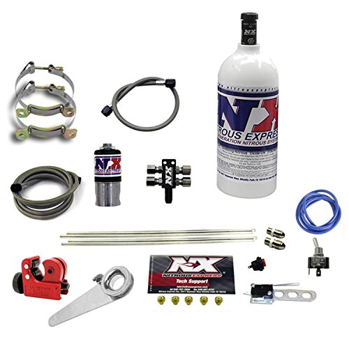 Nitrous Express 62000-1.0P Motorcycle 4 Cyl. Dry System Incl. All Necessary Components All Necessary Hardware w/1 lb. Bottle Jetting For 15-200 hp. Motorcycle 4 Cyl. Dry System