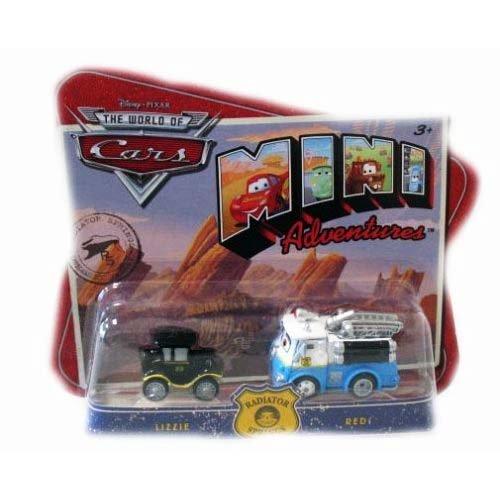 Disney Pixar Cars Mini Adventures Radiator Springs Lizzie & Red Car Set