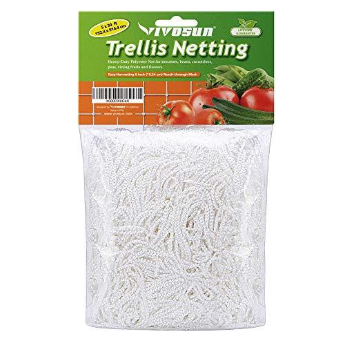 VIVOSUN 5 x 30ft HeavyDuty Polyester Plant Trellis Netting 1 Pack