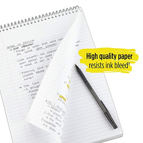 """Five Star Top Bound Notebook, 1 Subject, College Ruled Paper, 100 Sheets, 11"""" x 8-1/2"""", Assorted Colors, 6 Pack (73525) Photo #5"""