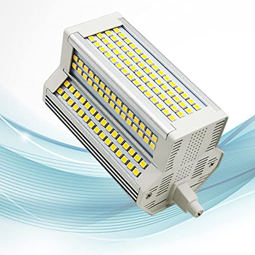 Bombilla LED Regulable 50W R7S 118mm 220 ° Blanco cálido 3000K AC110-240V Bombilla LED J118 de Doble Extremo Reflector halógeno R7s...