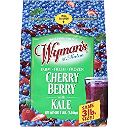 Wyman's of Maine Cherry, Berry with Kale, 3lbs (frozen)