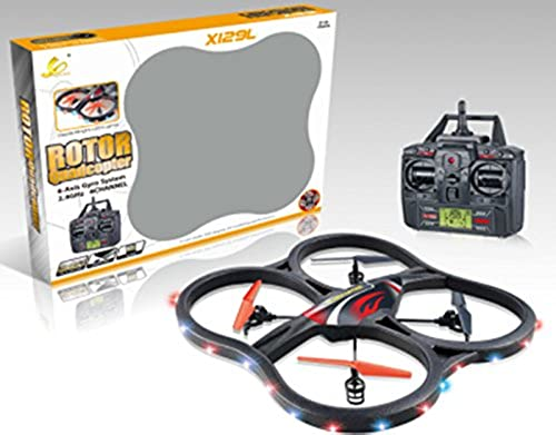 ES-TOYS RC UFO 4.5 Channel 2.4 Ghz 6 Axis Gyro Quadrocopter X129L with Camera