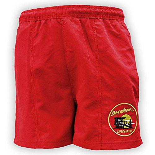 Lifeguardgear Short de bain officiel Alerte à Malibu®, rouge - Rouge - XX-Large