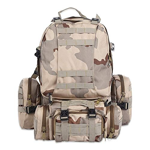 Mochila 50L al aire libre mochila táctica militar mochila deportes bolsa impermeable camping senderismo mochila viaje ThreeSand