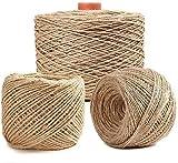 LXM Natürliches Jute-Seil, 50 m, Gartenschnur, Hanfseil, Juteschnur, für Gartenarbeit, Bündeln,...