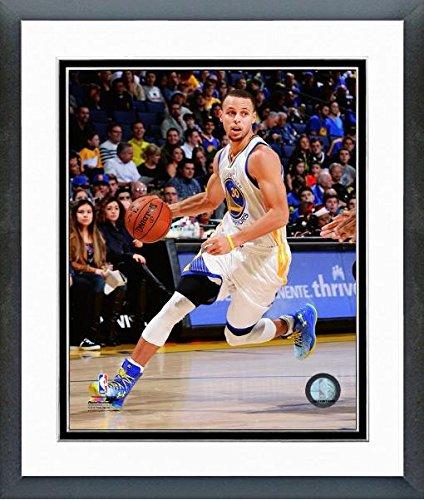 NBA Stephen Curry Golden State Warriors 2014 – 2015 Foto de acción (tamaño: 12.5 x 15.5 Pulgadas) Enmarcado