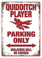 クィディッチ駐車場のみ 金属板ブリキ看板警告サイン注意サイン表示パネル情報サイン金属安全サイン