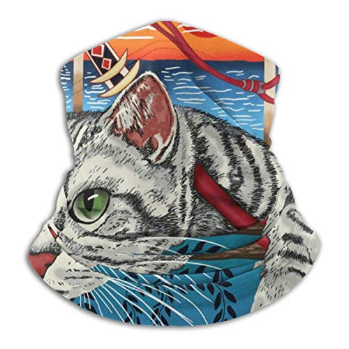 NA Tube Mask Hoofdband Ninja Cat Cool Graphic Unisex Winter Fleece Neck Warmer Gaiters Hairband Cold Weather Tube Face Mask Thermal Neck Scarf Outdoor UV-bescherming Party Cover
