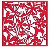 WWWFZS Biombo Separador Separador De Habitaciones Colgar Papel Tapiz De Flores Etiqueta De La Pared De La Pantalla Cortina Que Cuelga De Tabique De Partición Decoración del Hogar (Color : Red)