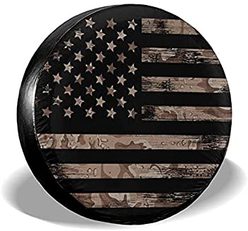 American Flag Spare Tire Cover Waterproof Dust-Proof UV Sun Wheel Tire Cover Fit for Jeep,Trailer RV SUV and Many Vehicle 15 Inch
