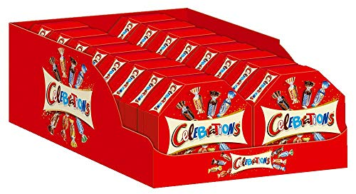 Celebrations Geschenkbox | Mini-Schokoriegel Mix | 16 Packungen in einer Box (16 x 186 g)