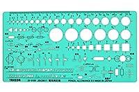 タケダ テンプレート電気回路用定規 (Ruler for electric circuits) 【29-0159】