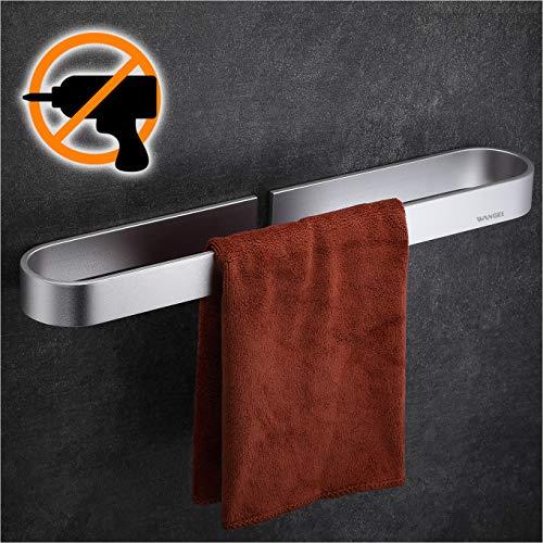 Wangel Handtuchstange Handtuchhalter ohne Bohren 40cm, Handtuchring, Patentierter Kleber + Selbstklebender Kleber, Aluminium, Matte Finish