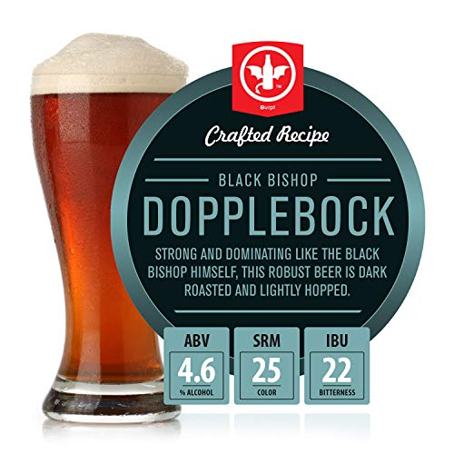 BrewDemon 2 Gal. Black Bishop Dopplebock Beer Recipe Kit - Makes a Wicked-Good 4.6% ABV Batch of Craft Brewed Beer