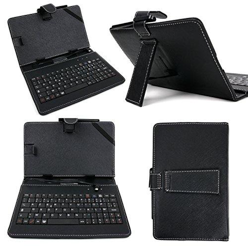 Funda 7pulgadas + teclado integrado AZERTY para Tablet Samsung Galaxy Tab Active SM-T360) (8', Lenovo Tab S8–50y Alcatel Hero 8–garantía 2años