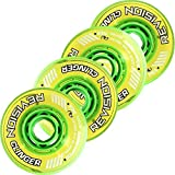 Revision Clinger Indoor Inline Roller Hockey Wheels - 74A - 76mm 4 Pack - Green