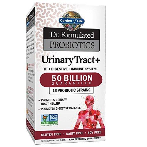 Garden of Life Dr. Formulated Probiotics Urinary Tract+ 50 Billion (Gluten & Dairy Free, 60 Vegetarian Capsules)