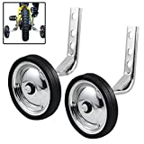 Training Wheels Little World Heavy Duty Rear Bicycle Stabilizers Mounted Kit Compatible for Bikes of 14 16 18 Inch, 1 Pair