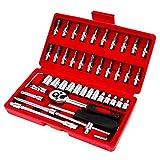 Caja de Herramientas 46pcs / set de la reparación Tool Box 1/4 pulgadas Herramientas Juego de dados de trinquete de la llave de par Combo kit de reparación auto del coche