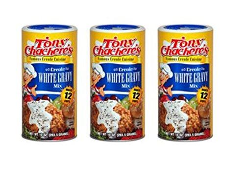 Tony Chachere Instant Gravy Mix, Instant White Gravy, 10 oz, 3 Count